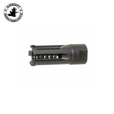 BOCACHA TIPO POF - ACM -Bocacha metálica para airsoft con rosca de -14mm.