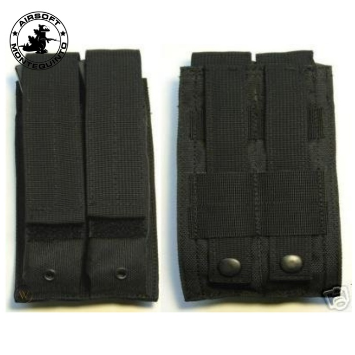 PORTACARGADOR DOBLE MP5 NEGRO (ACM)