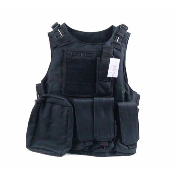CHALECO TÁCTICO FSBE TIPO 1 NEGRO - ACM