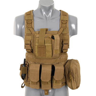 CHALECO SCOUT VEST TIPO CHEST RIG TAN