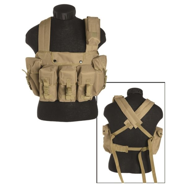 CHALECO CHEST RIG DELUXE TAN (MILTEC)