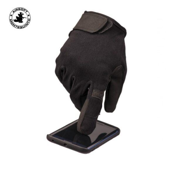 guante miltec touch negro