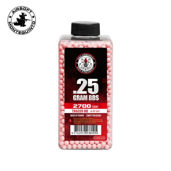 BOTE 2700BBS TRAZADORAS 0.25 rojas - G&G