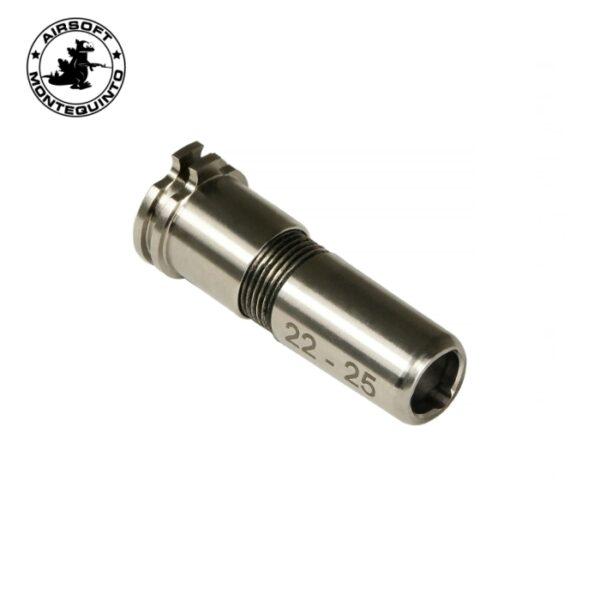 NOZZLE TITANIO CNC REGULABLE 22-25MM - MAXX MODEL